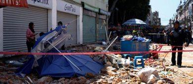 Suman 26 muertos en Puebla tras sismo de 7.1 grados